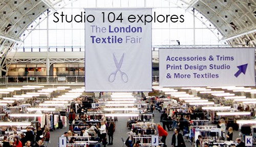 Studio 104 hits the London textile Fair: Searching for Designer Uniform Fabrics